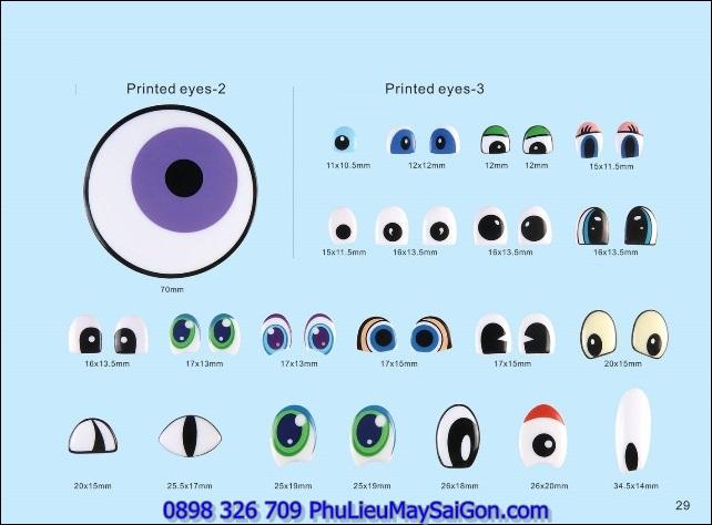Mắt thú nhồi bông SGA MGB122