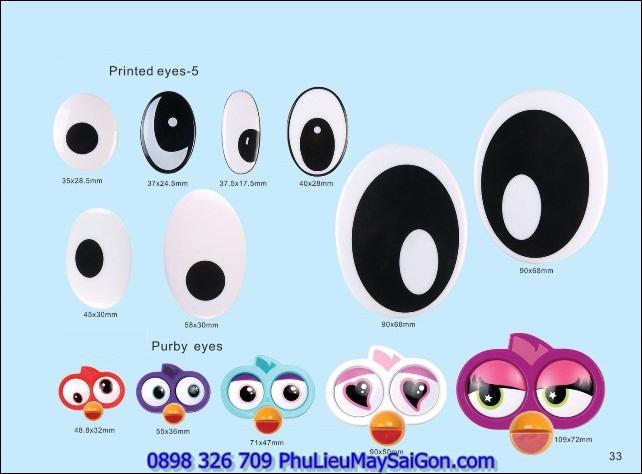 Mắt mũi miệng thú nhồi bông SGA MGB11