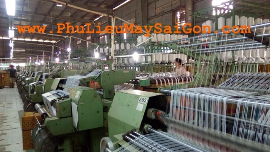 Xưởng sản xuất dây dệt kim chất lượng cao SGA tape của Phụ liệu may mặc Sài Gòn